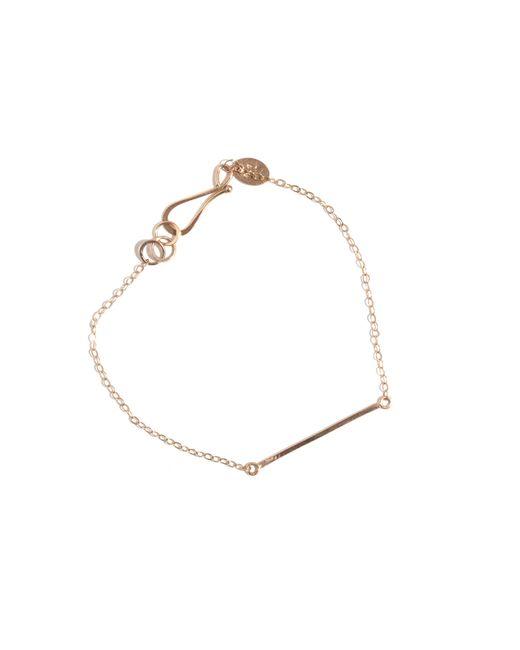Melissa Joy Manning | Metallic Gold Bar Bracelet | Lyst