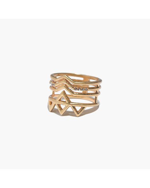 Madewell | Metallic Crownstack Ring | Lyst