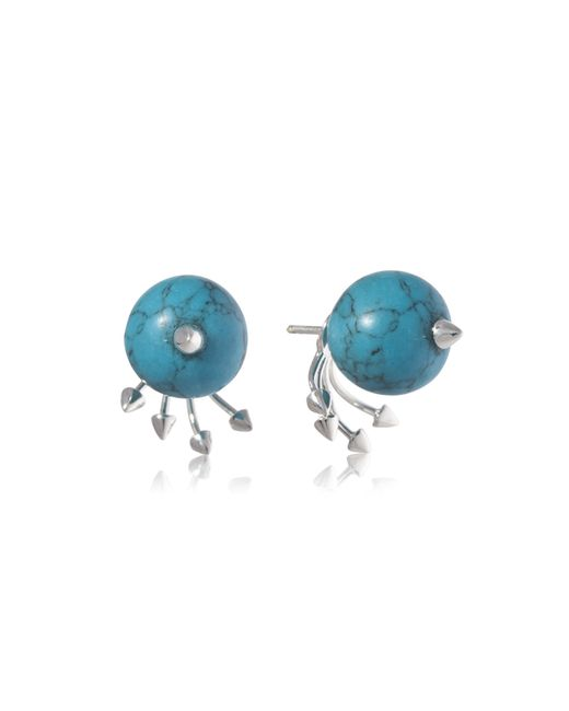Yael Salomon | Blue Greta 05 Silver And Turquoise Earring | Lyst