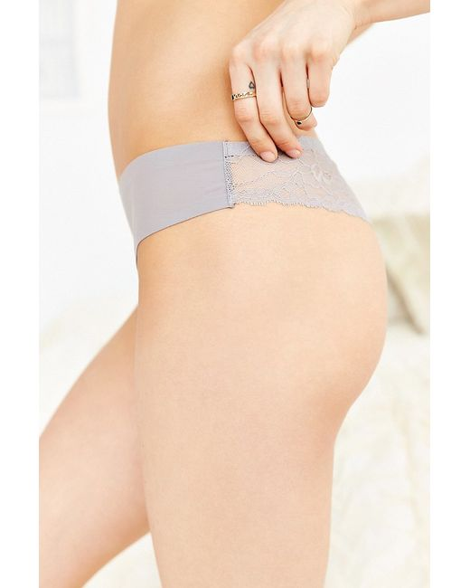Out From Under | Gray Nina Laser-cut Lace-back Thong | Lyst