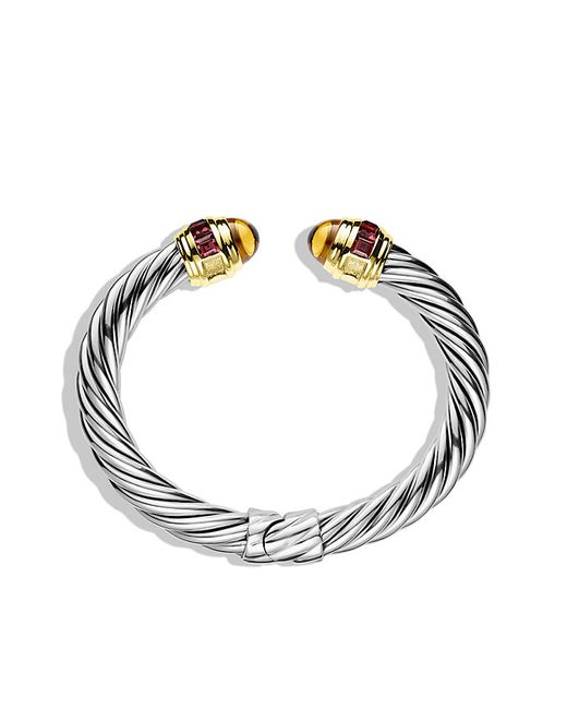 David Yurman | Metallic Renaissance Bracelet With Citrine, Rhodolite Garnet, And Gold, 8.5mm | Lyst