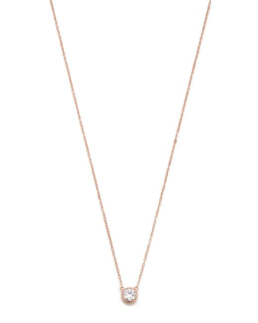 Shashi | Pink Solitaire Necklace | Lyst