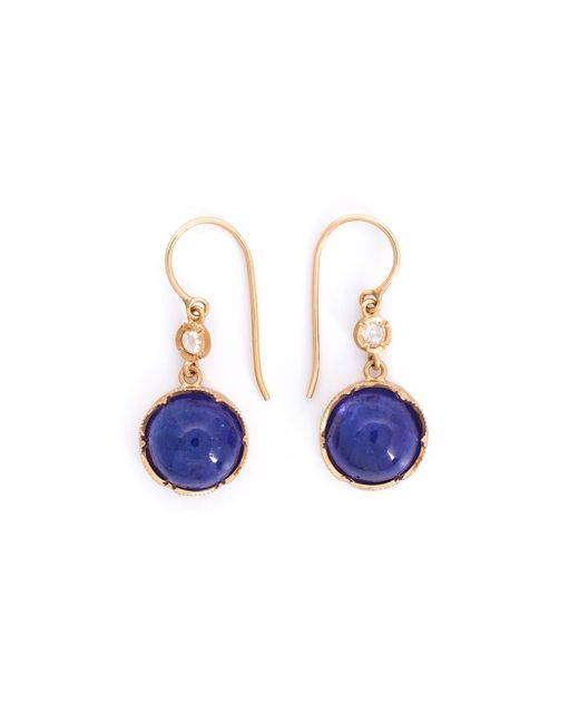 Irene Neuwirth | Blue Tanzanite And Diamond Drop Earrings | Lyst