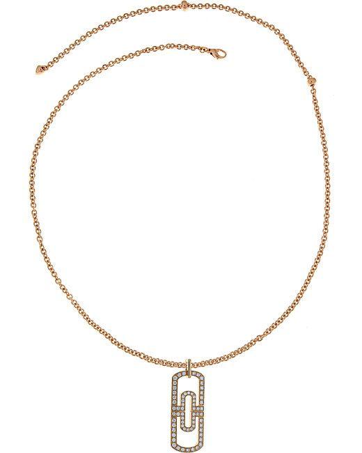 BVLGARI | Parentesi 18kt Pink-gold And Pavé Diamond Necklace | Lyst