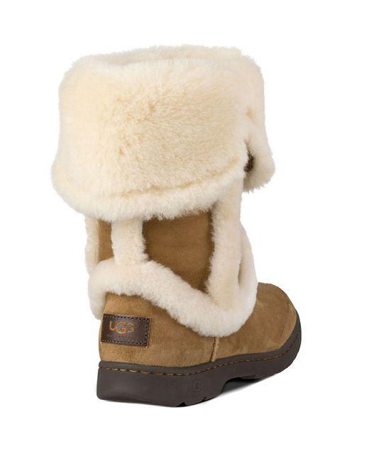 Ugg   Brown Katia Shearling Boots   Lyst