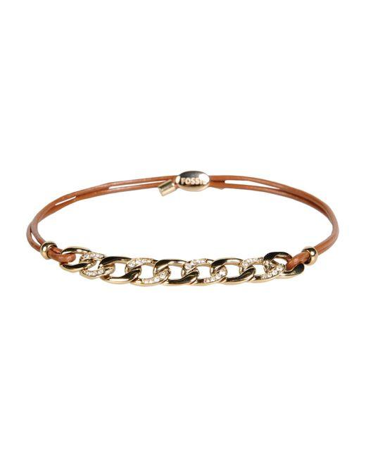 Fossil   Brown Bracelet   Lyst