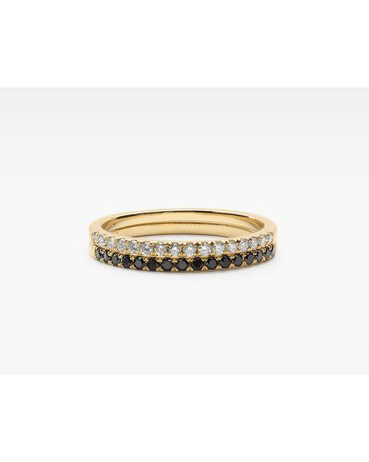 Vrai & Oro | Metallic Petite Diamond Band Pair | Lyst