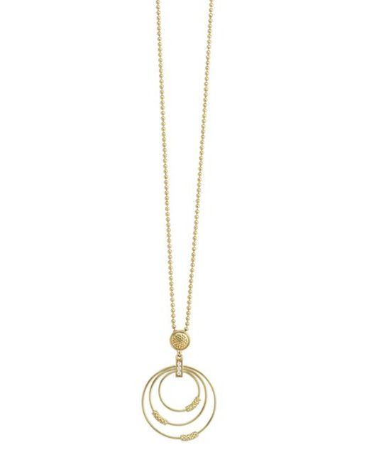Lagos | Metallic 'covet' Caviar Circle Pendant Necklace | Lyst