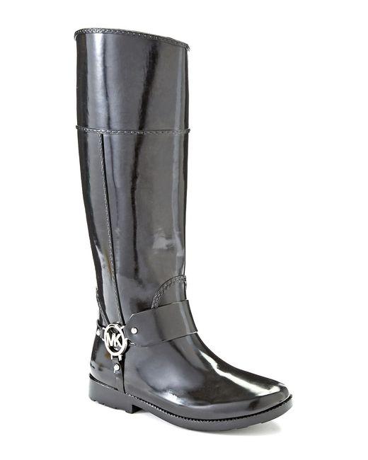 MICHAEL Michael Kors | Black Fulton Harness Rain Boots | Lyst