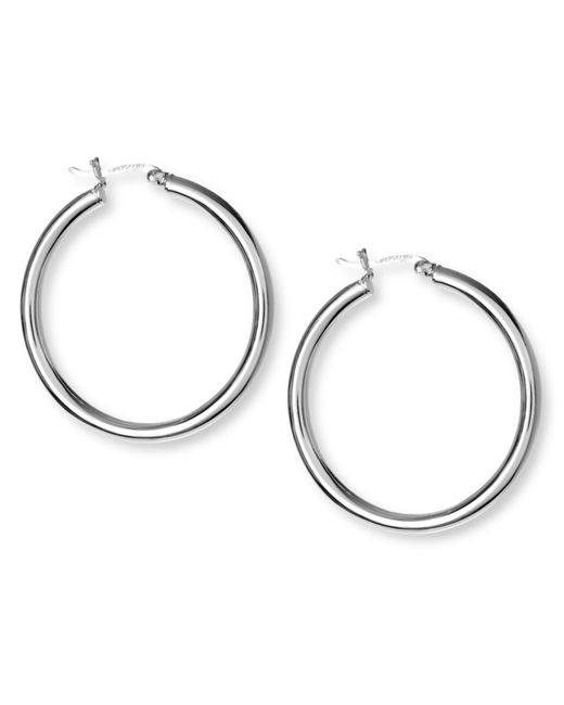Touch Of Silver | Metallic Silver Plated Hoop Earrings | Lyst