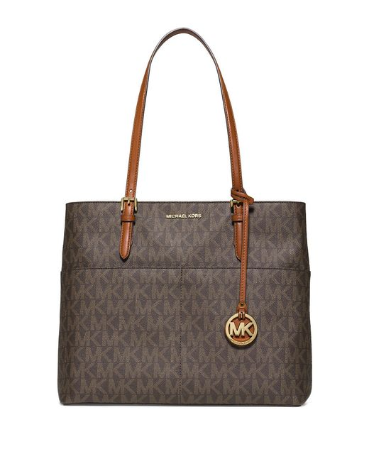 michael michael kors bedford large leather tote in brown lyst. Black Bedroom Furniture Sets. Home Design Ideas