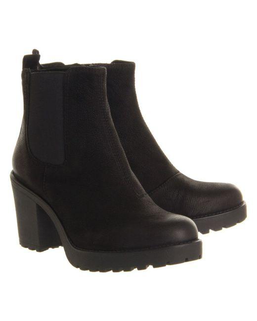 vagabond grace heeled chelsea boot in black lyst