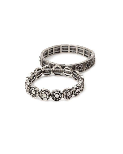 Forever 21   Metallic Etched Stretch Bracelet Set   Lyst