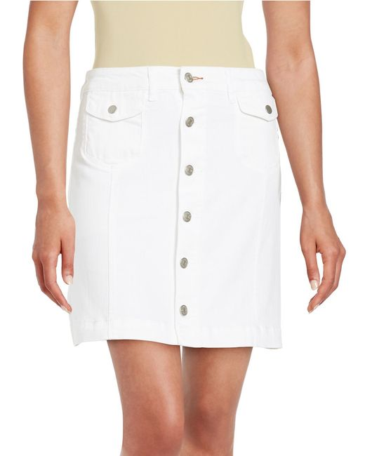 dittos button front skirt in multicolor white save 62