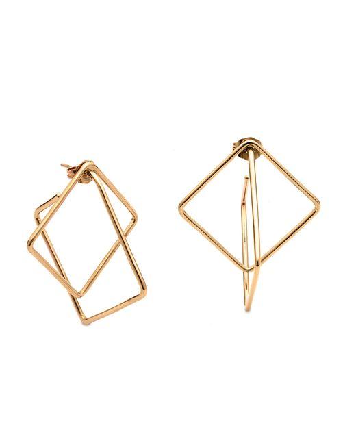 Caterina Zangrando | Metallic Mini Squares Gold Plated Earrings | Lyst