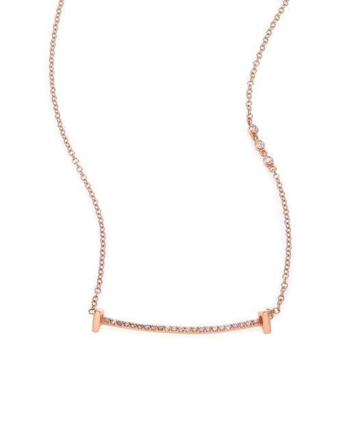 Phyne By Paige Novick | Pink Sasha Pave Diamond & 14k Rose Gold Pendant Necklace | Lyst