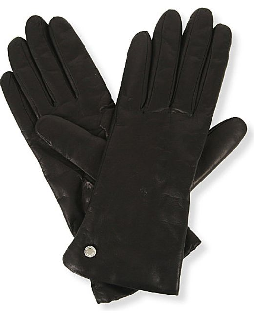 Armani | Black Nappa Leather Gloves | Lyst