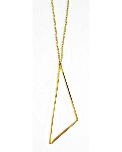 Cloverpost | Yellow Angular Necklace | Lyst