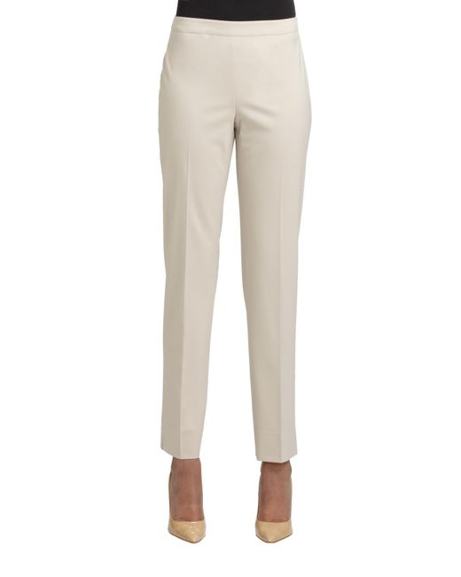 Lafayette 148 New York | Natural Bleecker Stretch-wool Pants | Lyst
