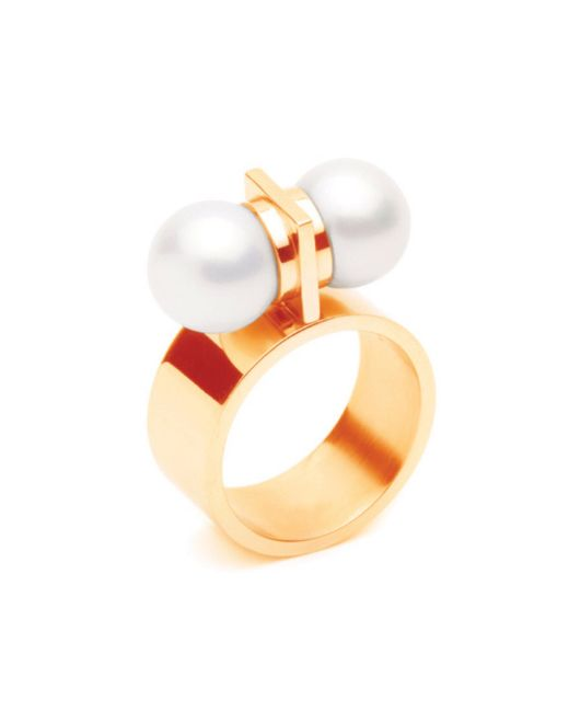Forever 21 | Metallic Amber Sceats Thunderball Ring | Lyst