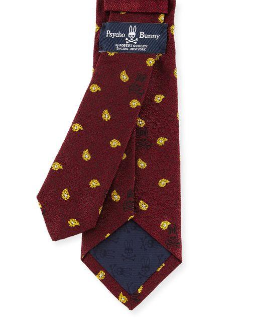 Psycho Bunny | Purple Bunny Paisley Woven Tie for Men | Lyst