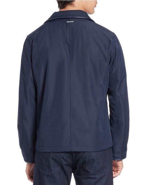 Marc New York | Blue Astoria Moto Jacket for Men | Lyst
