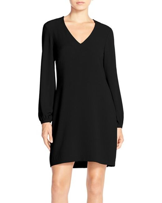 Charles Henry | Black Crepe A-line Dress | Lyst
