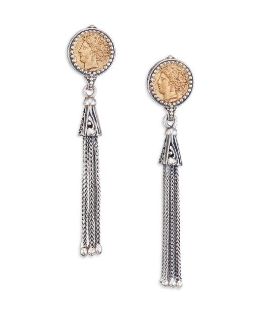 Konstantino | Metallic Kerma Bronze & Sterling Silver Coin Tassel Earrings | Lyst
