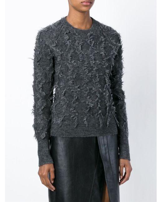 3.1 Phillip Lim   Gray Grey Mohair Crew Neck Sweater   Lyst