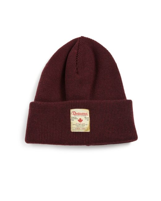 DSquared² | Purple Knit Wool Hat for Men | Lyst