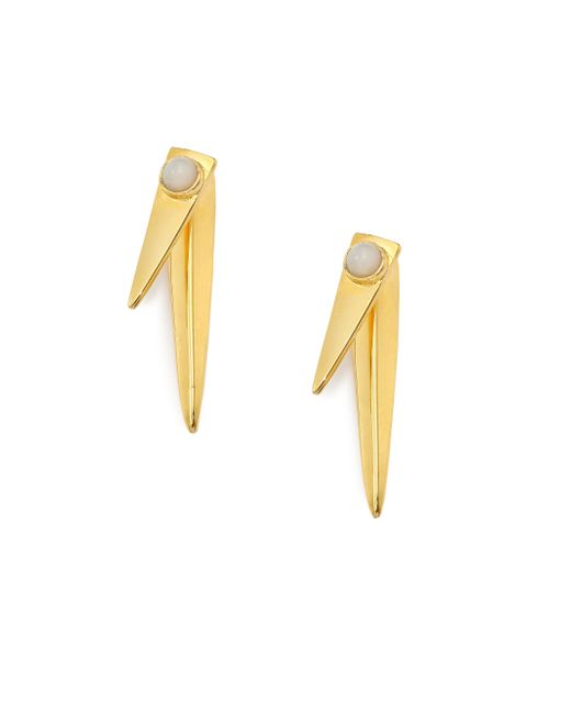 Lizzie Fortunato   Metallic Pyramid Mother-of-pearl Earrings   Lyst