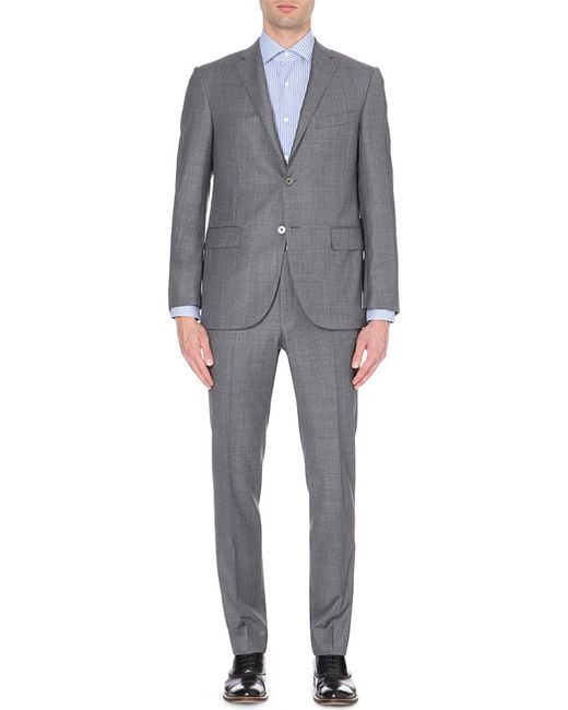 Corneliani | Gray Single-breasted Regular-fit Wool Suit for Men | Lyst