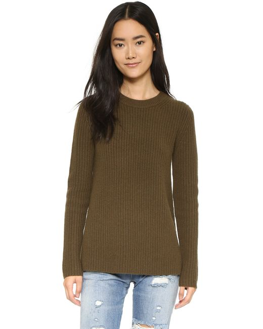 Theory | Green Fine Haven Sweater | Lyst
