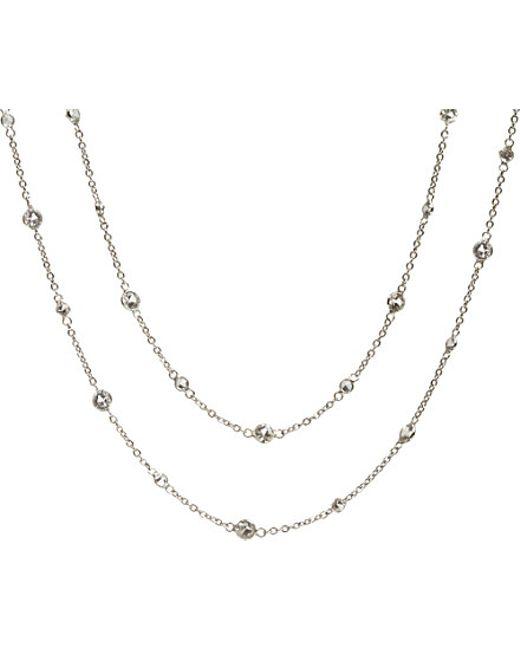 Annoushka | Metallic Nectar Jasmine 18ct White-gold And Sapphire Necklace | Lyst