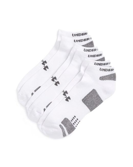 Under Armour | White Heatgear 'trainer' No-show Socks for Men | Lyst