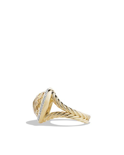 David Yurman | Metallic Albion Ring With Champagne Citrine And Diamonds In 18k Gold, 14mm | Lyst