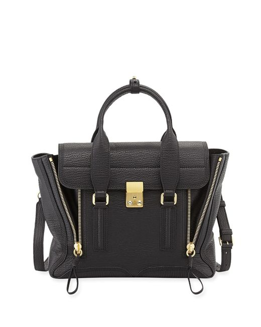 3.1 Phillip Lim   Green Pashli Medium Zip Satchel Bag   Lyst