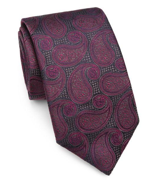 Saks Fifth Avenue | Purple Paisley Silk Tie for Men | Lyst