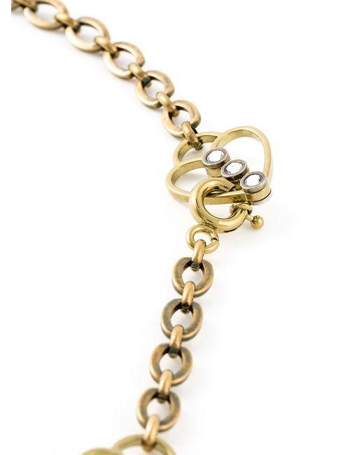Lanvin | Metallic Arrow And Heart Necklace | Lyst