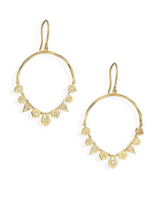 Ron Hami | Metallic Rain Diamond & 18k Yellow Gold Arc Chandelier Earrings | Lyst