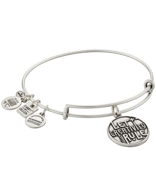 ALEX AND ANI | Metallic Charity By Design Let Creativity Rule Charm Bangle | Lyst
