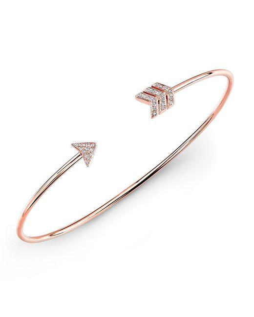 Anne Sisteron - Metallic 14kt Rose Gold Diamond Arrow Cuff - Lyst