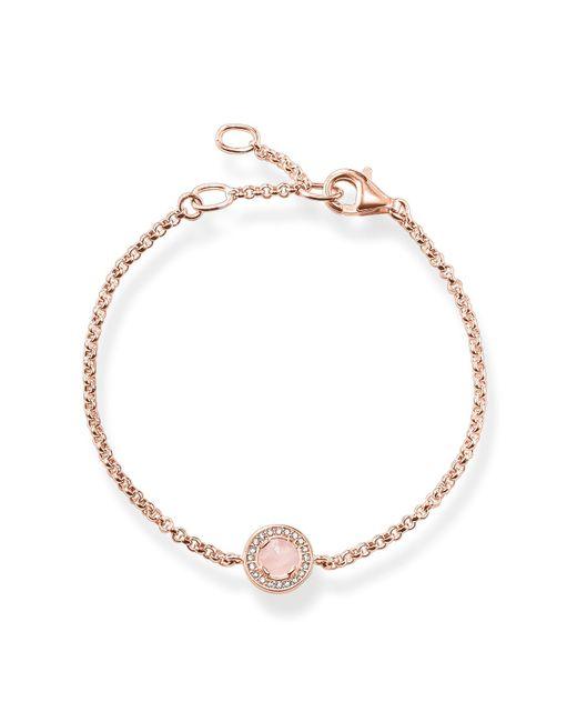 Thomas Sabo | Pink Light Of Luna Rose Quartz Bracelet | Lyst
