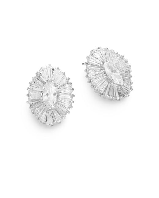 CZ by Kenneth Jay Lane | Metallic Marquis Brilliance Earrings | Lyst