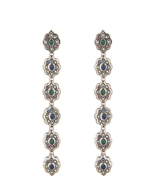 Gucci | Blue Crystal And Palladium-Plated Earrings | Lyst