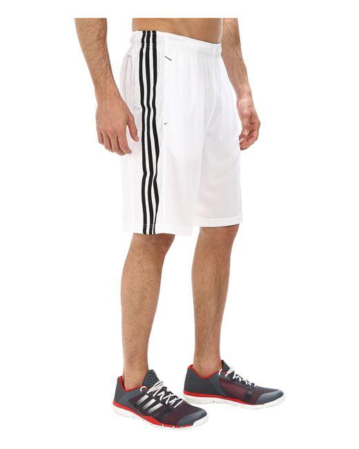 Adidas Originals   White Essential 3s Shorts for Men   Lyst
