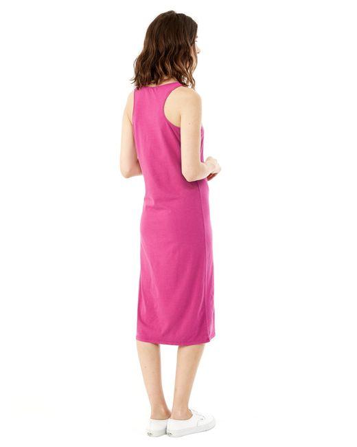 Alternative Apparel   Purple Cotton Modal Racerback Midi Dress   Lyst