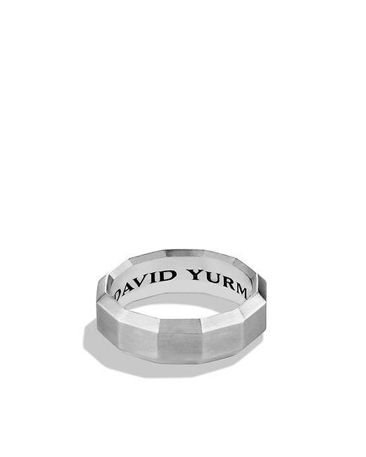 David Yurman | Metallic Faceted Metal Band Ring for Men | Lyst