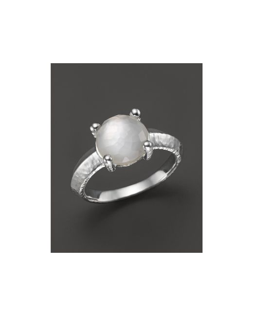 Ippolita | White Rock Candy® Single Stone Prong Knife Edge Ring In Mother-of-pearl | Lyst