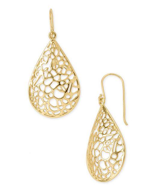Argento Vivo | Metallic Teardrop Dome Lace Earrings | Lyst